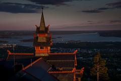Sunset over Holmenkollen (e-box 65) Tags: oslo norwegen no norway norge oslofjord fjord sunset hotel scandic scandinavia
