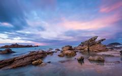 The rough with the smooth... (muzzpix-nz) Tags: mount sunset northrock mountmaunganui newzealand bayofplenty littlestopper leefilters rocks rhyolite pink tauranga longexposure wideangle tide clouds