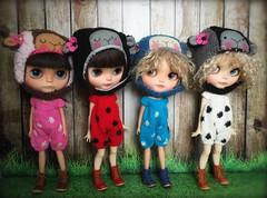 "My knit handmade "" polka romper """