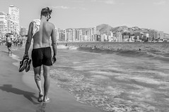 Beach walk. (CWhatPhotos) Tags: benidorm spain spanish resort costa blanca photographs photograph pics pictures pic picture image images foto fotos photography artistic cwhatphotos that have which with contain em10 omd olympus esystem four thirds digital camera lens olympusem10 mk ii 43 mft micro seaside holiday september 2016 street life walk sun shine sunshine sea sand paths path cobbled