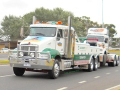 photo by secret squirrel (secret squirrel6) Tags: rescue white mural cummins towtruck recovery kw 2012 t300 kenworth tooradin wrecker southgippslandhighway roadboss secretsquirrel6truckphotos