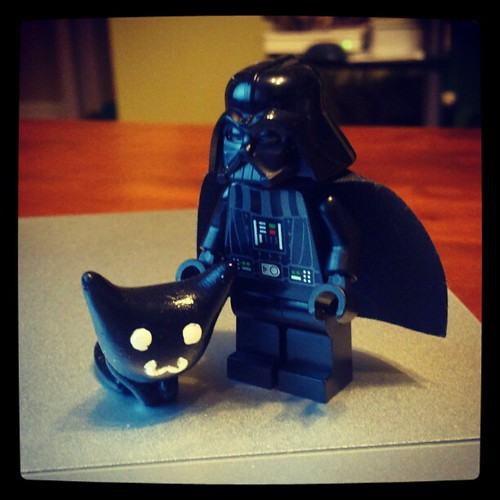 Darth vader and his kitty #kitty #starwars #darthvader