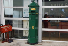 Victorian Green Hexagonal Post Box (Le Monde1) Tags: county england green nikon box pillar victorian hampshire portsmouth royalmail naval base royalnavy d60 portsmouthhistoricdockyard lemonde1