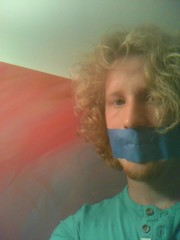 blue gag (Bmillzgag) Tags: bluetape tapegag flickrandroidapp:filter=none