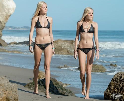 Sister in a bikini