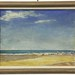 33.  Original Oil on Board Beach Scene, circa 1960