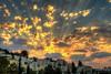 [213/366] - Light Rays (derdos) Tags: light sunset sky clouds buildings israel apartments dusk haifa beams lightroom technion frommybalcony photomatix canon7d