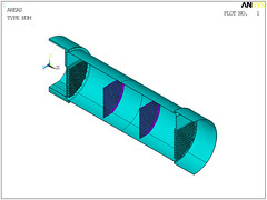 Heat Exchanger Model Geometry (ANSYS FEA) Tags: model mechanical geometry fea ansys exchanger apdl