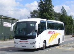Meredith's Coaches , Malpas . Cheshire . YN06CKL . Great Central Way , Wembley , London . Saturday 25th-August-2012 . (AndrewHA's) Tags: bus coach cheshire rugby scania wembley merediths cupfinal malpas irizar k114 yn06ckl