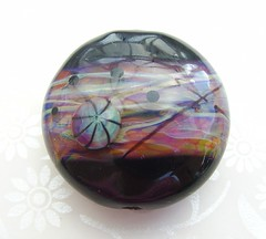 Hipster Lentil (Glittering Prize - Trudi) Tags: sunset black glass beads rainbow handmade hipster tropical lampwork artisan multicolour lentil focal glitteringprize murrini