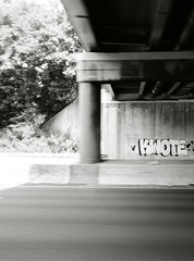 Kwote (36th Chamber) Tags: white black film 35mm graffiti highway nj hrv kwote