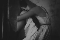 I watched you disappear (Brenna.W) Tags: blackandwhite bw fashion canon dark photography lyrics scary model alone dof dress darkness emotion modeling eerie haunted abandonedhouse emotional weeks emotions brenna hauntedhouse