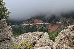 Lifting fog (Moffat Road) Tags: railroad fog train colorado rocks amtrak co plain flatirons plainview passengertrain californiazephyr liftingfog tunnel2 trainno5 tunneldistrict moffattunnelsub