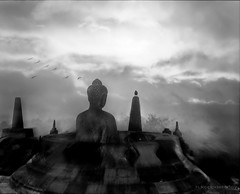 Borobudur 4 (h.koppdelaney) Tags: life art digital photoshop indonesia peace view symbol buddha religion picture monk buddhism philosophy relief harmony mind meditation teaching awareness metaphor enlightenment stillness borobudur psyche symbolism psychology archetype conscious koppdelaney