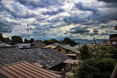 Kyoto roofs on a gloomy day (Arutemu) Tags: city urban japan canon asian japanese kyoto asia cityscape view scenic scene  getty  kansai japonesa  japon  japonais kyomizudera