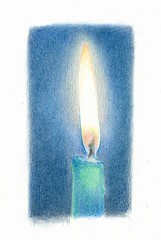 2012_09_04_candle_01 (blue_belta) Tags: blue art sketch candle coloredpencil