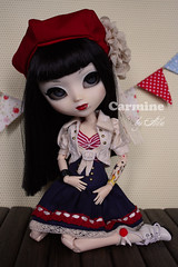 Carmine by LLD (Ala) Tags: party vintage tea handmade swap pullip custo lld carmine azazelle