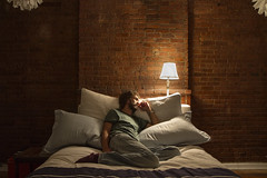 Day 248 (Michael Rozycki) Tags: light portrait brick lamp wall self canon project other bed personal beds pillows pillow 7d cushion cushions 1755