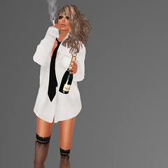 NEW ! JADOR, the day after ! (mimi.juneau *Mimi's Choice*) Tags: fashion cigarette champagne mascara dayafter mensshirt jador mimijuneau ziamelaloon mimischoice fall2012