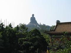 The Big Buddha seen from the monastery (oldandsolo) Tags: china hk hongkong buddhism bigbuddha lantauisland polinmonastery chinesetemple chineseculture ngongping tiantanbuddha ngongpingbuddha buddhistfaith chinesereligiousshrine largestseatedbronzebuddha
