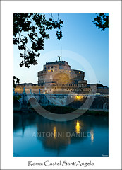 Roma, Castel Sant'Angelo (17814) (Danilo Antonini (Pescarese)) Tags: old city travel bridge blue sunset italy holiday rome roma reflection castle tourism monument night canon river eos town twilight italia tramonto blu monumento fiume centro unesco ponte prison mausoleum hour tevere lungotevere campo ora angelo mole turismo fortress sant castello viaggio notte adriano touring vacanza castel elio castelsantangelo eternal lazio turisti sera citt notturno penitentiary riflesso mausoleo crepuscolo storico fortezza prigione patrimonio carcere marzio eterna umanit citteterna imbrunire mausoleodiadriano canonef24105f4lisusm pescarese patrimoniodellumanitunesco canoneos5dmark2 adrianorum