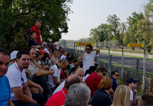 Ferrari Tifosi at the Italian Grand Prix at Monza 2012
