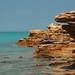 O azulado Oceano Índico, visto de Broome