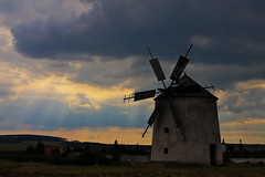 lights and windmill... (lazphoto73) Tags: windmill clouds hungary bakony magyarorszg ts szlmalom