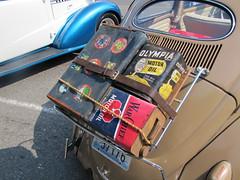 suitcase and motor oil... (bballchico) Tags: oilcan suitcase motoroil can 19571963 volkswagen bug vw josh jones 206 washingtonstate