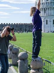 Pisa - Leaning Tower pusher (fotogake) Tags: italien geotagged pisa campanile ita leaningtower toskana pisapusher piazzadeimiracoli piazzadelduomo schieferturm geo:lat=4372244100 geo:lon=1039624200