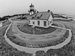 Aerial Point Cabrillo Lighthouse (jimmytrey) Tags: lighthouse mendocino pointcabrillo gopro