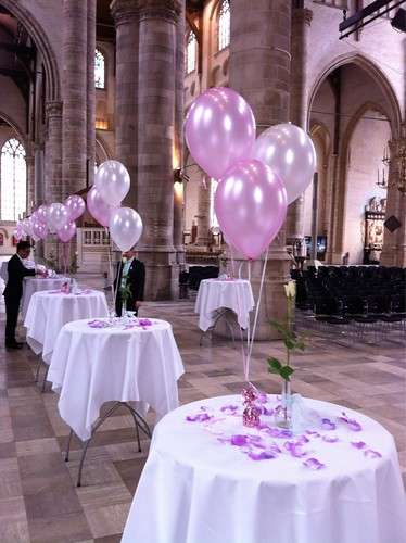 Tafeldecoratie 3ballonnen Grote Kerk Rotterdam