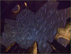 Circumpolar a San Anton (Nufus) Tags: olympus ruinas convento nocturna castrojeriz circumpolar sananton zd8mm omdem1