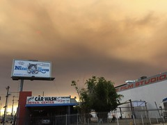 IMG_3816 (lnewman333) Tags: losangeles ca usa socal southerncalifornia smoke sky sun fire sandfire santaclaritafire hollywood