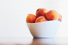 Summer sweetness (katiegodowski_photography) Tags: peaches fruit summer amateurs amateur photography canon photographers creative food indoor depth field white background