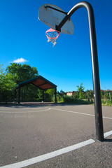 MH_098 ( Ed Lee) Tags: nikon 7100 tokina 1224 morning contrast tree perspective depthoffield shadow line shade court pole sky outdoor basketball net cloud color abstract