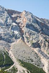 Rock slide (Cjasar) Tags: rockslide rock rockwall mountain frana parete montagna dolomites dolomiti dolomiten geology geologia scree gravon grave ghiaione block blocchi massi boulder fall hiking backpacking escursionismo trekking sanvigiliodimarebbe fanes sennes
