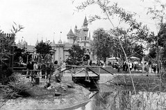 Sleeping Beauty Castle (Tom Simpson) Tags: vintage disney disneyland vintagedisney adventureland sleepingbeautycastle bridge vintagedisneyland