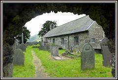 St. Michaels Church, Llanfihangel y Pennant, Near Castell y Bere, Gwynedd, Wales (marj.p. (Catching up!!)) Tags: maryjones maryjonesandherbible wales stmichaelschurchllanfihangelypennant castellybere church welshchurch caderidris gwynedd~wales fujifilmhs50 graveyard