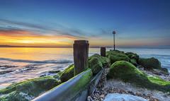 Break Of Day (nicklucas2) Tags: avonbeach dorset seascape beach groyne sand sea seaside solent sun sunrise water cloud