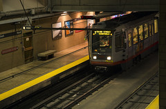 T Line entering Church Station (Hawkeye2011) Tags: sanfrancisco usa 2016 california transport train railway station muni tline