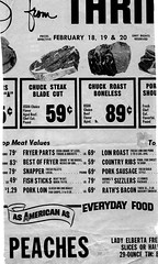 Skagit County Food Ad - 1972 (jiff89) Tags: skagit thriftway food advertisement herald valley newspaper thrifty foods store meat price steak roast snapper sausage