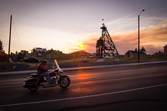 Where the Light Shines Through (Ryan_Hasselbach) Tags: america usa bike biker butte fast landscape machine man montana motor motorbike motorcycle road sky street summer sun sunset transport transportation travel blurry speed harleydavidson