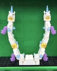 U (Laurene J.) Tags: lego bricksbythebay bbtb2016 minifigurealphabet minifigure minifigs legoalphabet alphabet pilobolusalphabet pilobolus lettering bbtb 2016 bricksofcharacter u unicorn costume