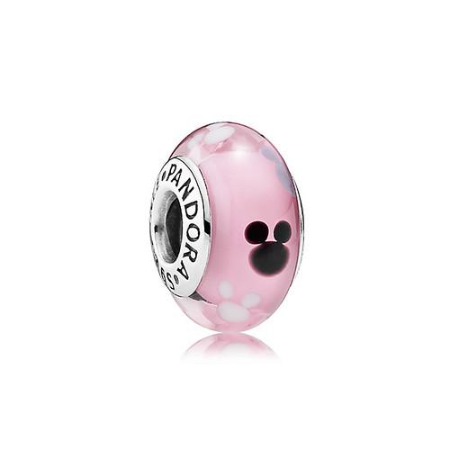 Disney Mickey Mouse Icon Murano Glass Charm Pandora