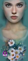 """Madamnesia_illustrator """"il fiore di Nine"""" (Madamnesia_illustrator) Tags: madamnesia illustratrice portraits portfolio ritratto nine effetto eye expressions drawing design disegno digital artedigitale artworks"""