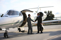 Chicago Executive Protection (secureoptionsconsulting) Tags: corporatejet jet airplane aircraft privateairplane airport travel transportation business businesstravel wealthy wealth luxury briefcase luggage executive suit men meeting handshake businessman man twopeople adult 3540years businessteam