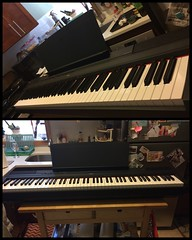 #birthdaypresent #digitalpiano #keyboard (oostumbleineoo) Tags: birthdaypresent digitalpiano yamiha keyboard ihaventplayedfor15years butimhappy hopeful selfmotivated selfeducated past memories triggers replacingmemories turningbadintogood ifyoucant forgetthepast rewriteit