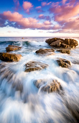 One step at a time. (mnlphotography) Tags: beach ocean coastal sunset clouds lagunabeach laguna longexposure 7dmarkii 7dmark2 7d tokina tokinaaf1224mmf4 tokina1224mm