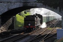 Loco 30053  |  Swanage, Dorset UK  |  2016 (keithwilde152) Tags: br m7 30053 swanage railway dorset uk 2016 station tracks bridge steam locomotives town outdoor summer sun